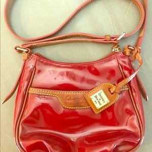 Dooney & Burke Red Patent Crossbody